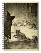 Frogs And Candle Spiral Notebook
