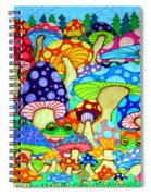 Frogs And Magic Mushrooms Spiral Notebook