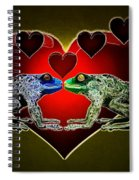 Frogs In Love Spiral Notebook