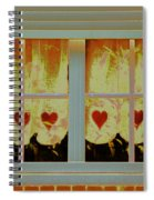 From French Riviera Window With Love Spiral Notebook