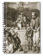 From Hand To Mouth, Engraved By J.m Spiral Notebook