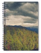 From Moro Rock Of The Sequoias Spiral Notebook