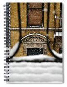 From My Fire Escape - Arches In The Snow Spiral Notebook