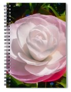 From Red To White Spiral Notebook