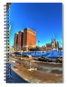 From The Stairs Of City Hall Winter 2013 Spiral Notebook