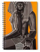 Front And Side Egyptian Pharoah Spiral Notebook