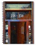 Front Door At The Cafe Nine Spiral Notebook