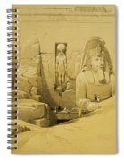 Front Elevation Of The Great Temple Of Aboo Simbel Spiral Notebook