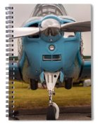 Front Of An Airplane Propeller Spiral Notebook