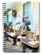 Front Porch On An Old Country House 2 Spiral Notebook