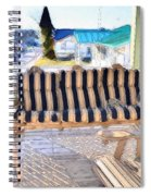 Front Porch On An Old Country House  3 Spiral Notebook