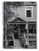 Front Porch Usa Black And White Spiral Notebook