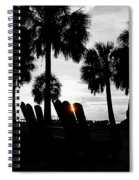 Front Row For Sunset Spiral Notebook