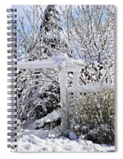 Front Yard Of A House In Winter Spiral Notebook
