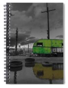 Front Yard Path Black And White Spiral Notebook