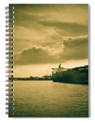 Frontier Ambition Ship Spiral Notebook