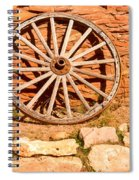 Frontier Wagon Wheel Spiral Notebook