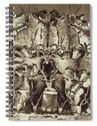 Frontispiece Of Large Game Shooting Spiral Notebook