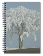 Frost Covered Lone Tree Spiral Notebook