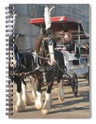 Frost Fair Horses Hastings Spiral Notebook