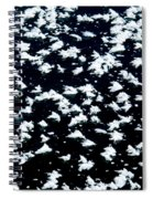 Frost Flakes On Ice - 18 Spiral Notebook