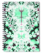 Frost On The Grass Fractal Spiral Notebook