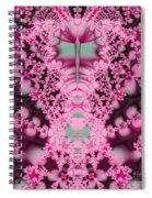 Frost On The Roses Fractal Spiral Notebook