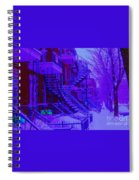 Frost On  Winding Staircases Spiral Notebook
