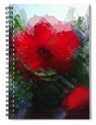 Frosted Hibiscus 3 Spiral Notebook