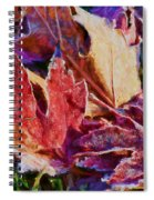 Frosted Leaves #2 - Painted Spiral Notebook