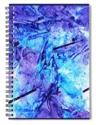 Frozen Castle Window Blue Abstract Spiral Notebook