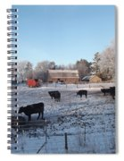 Frosty Barnyard Spiral Notebook