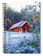 Frosty Cabin Spiral Notebook