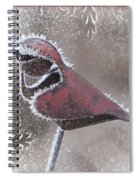 Frosty Cardinal Spiral Notebook