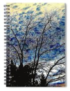 Frosty Fall Tree Spiral Notebook