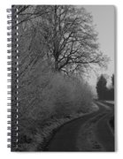 Frosty Farm Road Spiral Notebook