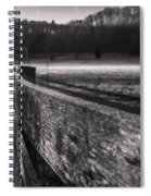frosty fence in rural Indiana Spiral Notebook