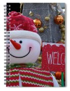 Frosty Greetings Spiral Notebook