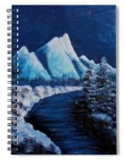 Frosty Night In The Mountains Spiral Notebook