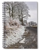 Frosty Road Spiral Notebook