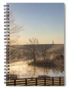 Frosty Sunrise Spiral Notebook