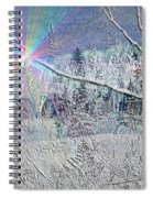 Frosty Window Distant Sun Spiral Notebook