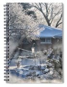 Frosty Winter Window Spiral Notebook