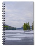 Frozen Bear Creek Lake Spiral Notebook