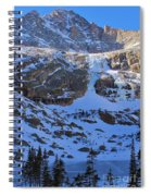 Frozen Black Lake Spiral Notebook