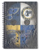 Frozen Blues Spiral Notebook