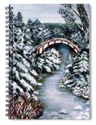 Frozen Brook - Winter - Bridge Spiral Notebook
