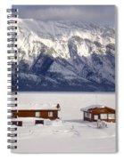Lake Minnewanka, Alberta - Banff - Frozen Docks Spiral Notebook