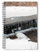 Frozen Falls At Pine Creek Spiral Notebook