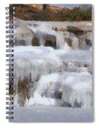 Frozen Falls Spiral Notebook